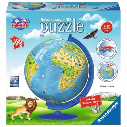Children's World Map 3D Puzzle 180 Piece