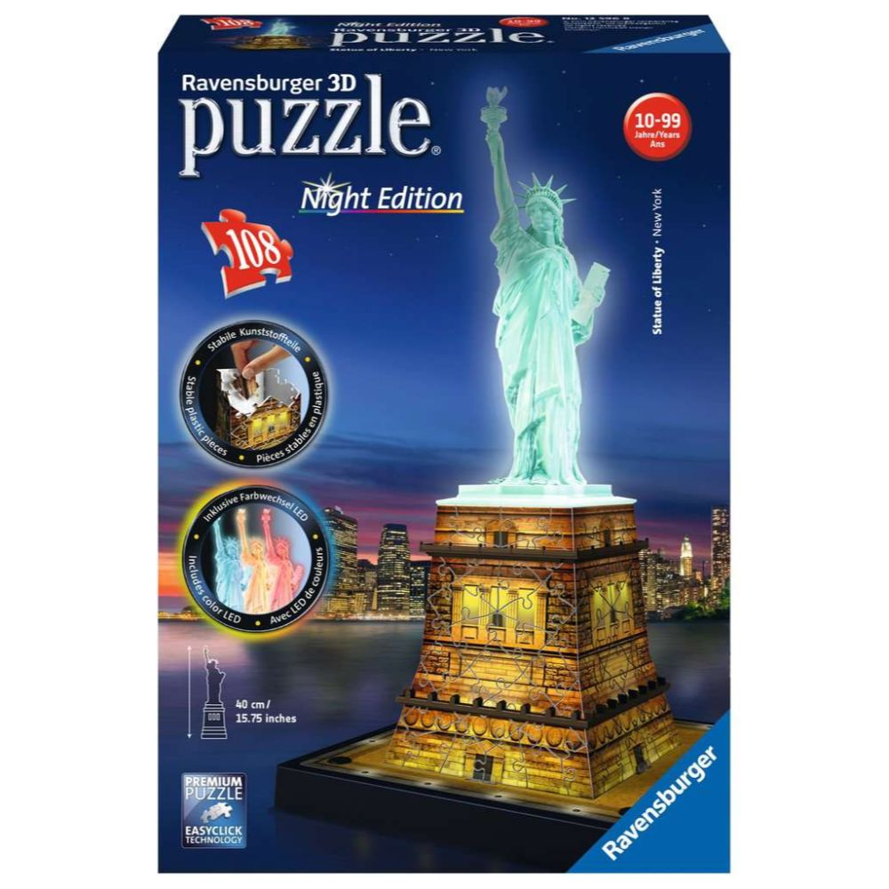 Statue of Liberty Night Edition 3D Puzzle 216 Piece