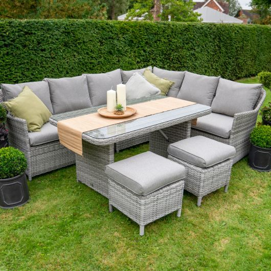 LG Outdoor Andorra Rectangular Dining Set