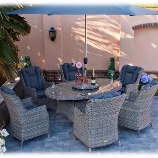 Firmans Corfu 6 Seater Oval Dining Set