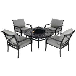 See more information about the Hartman Jamie Oliver Fire Pit Set - Riven/Pewter