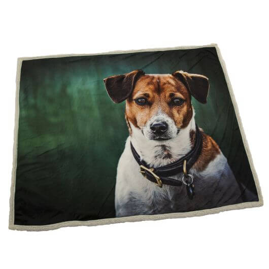 Country Matters Soft Touch Throw - Amber Jack Russel