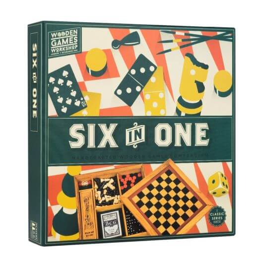 Wooden Games Workshop-Six in One