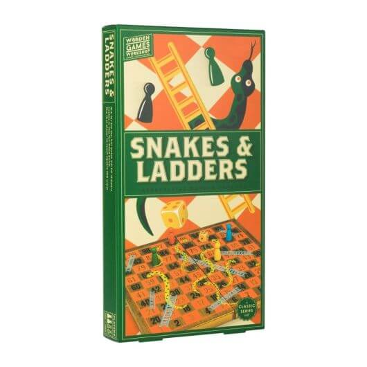 Wooden Games Workshop-Snakes and Ladders