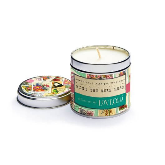 Wish you were here Scented Tin Candle