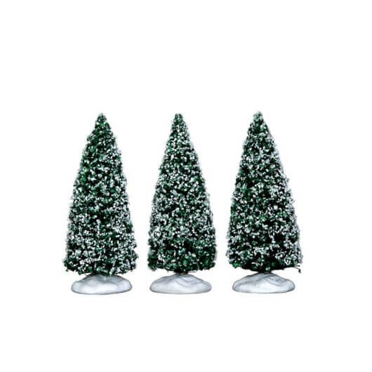 Lemax Snowy Juniper Tree, Small, Set Of 3 (34666)