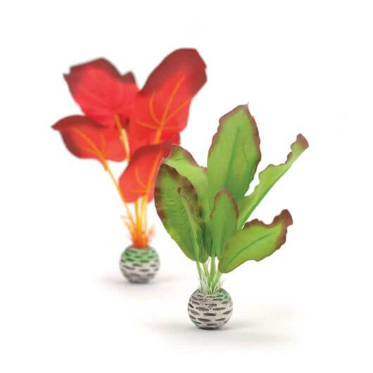 BiOrb Red and Green Silk Plants - Set of 2