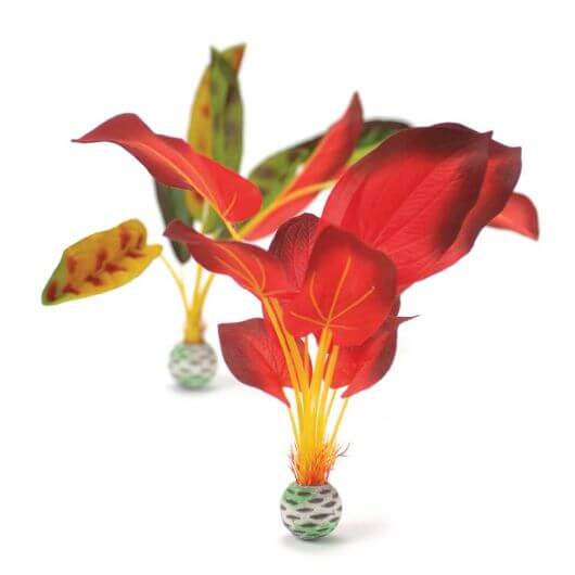 BiOrb Green and Red Silk Aquatic Plants - Set of 2