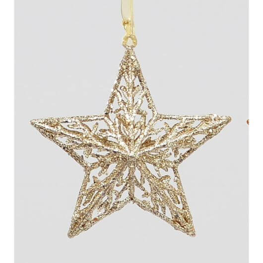 Champagne Glitter Star Decoration