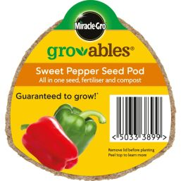 See more information about the Miracle-Gro Groables Sweet Pepper Seed Pod