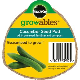 See more information about the Miracle-Gro Groables Cucumber Seed Pod