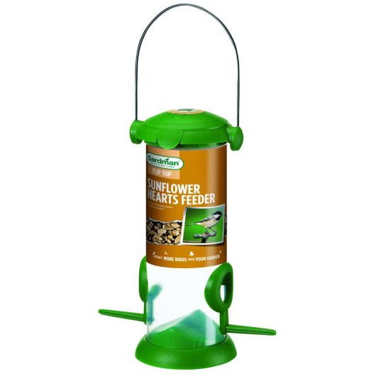Gardman Flip Top Sunflower Hearts Feeder - Small