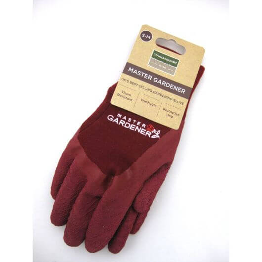 Town & Country Master Gardener Gloves Wine S-M