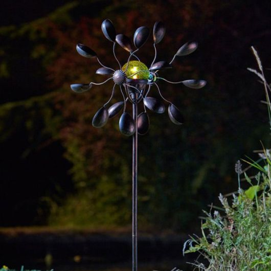 Smart Solar Gemini Wind Spinner