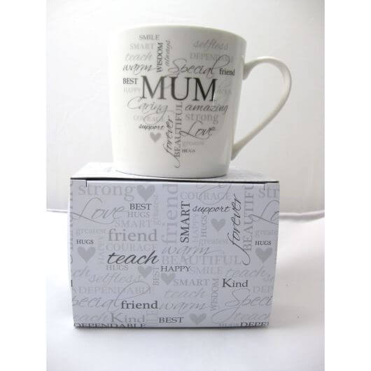 Heartfelt Moments Typography Mug - Mum