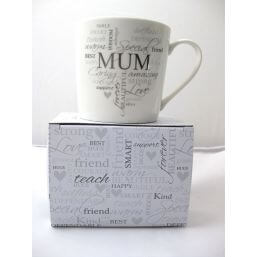 See more information about the Heartfelt Moments Typography Mug - Mum