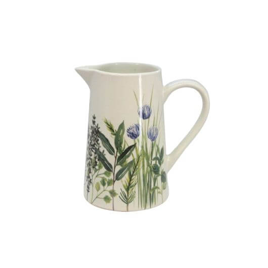 Herbs Large Ceramic Jug