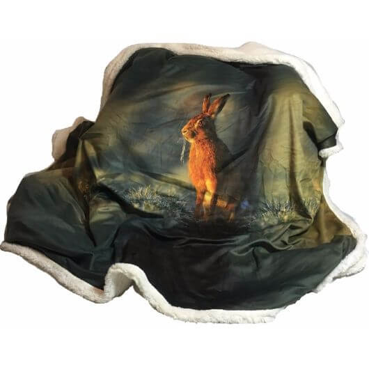 Country Matters Soft Touch Throw - Hare in the Grass