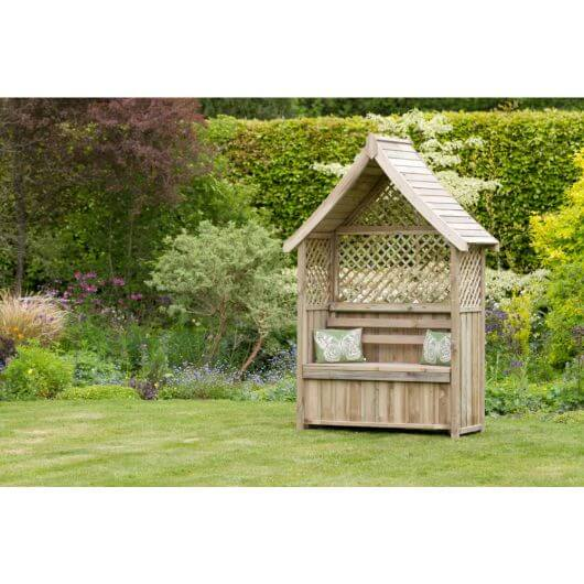 Zest Norfolk Arbour with Storage Box