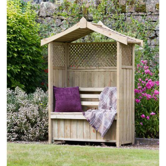 Zest Dorset Arbour with Storage Box