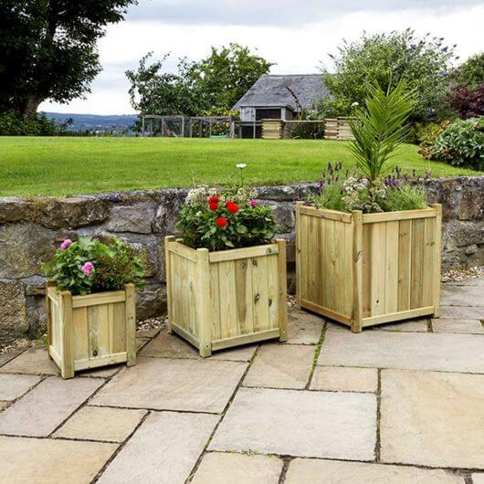 Zest Holywell Planters, Nest of 3