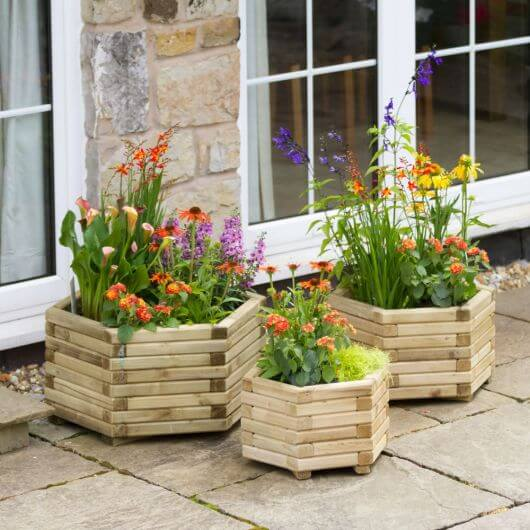 Zest Marford Hexagonal Planters Set of 3
