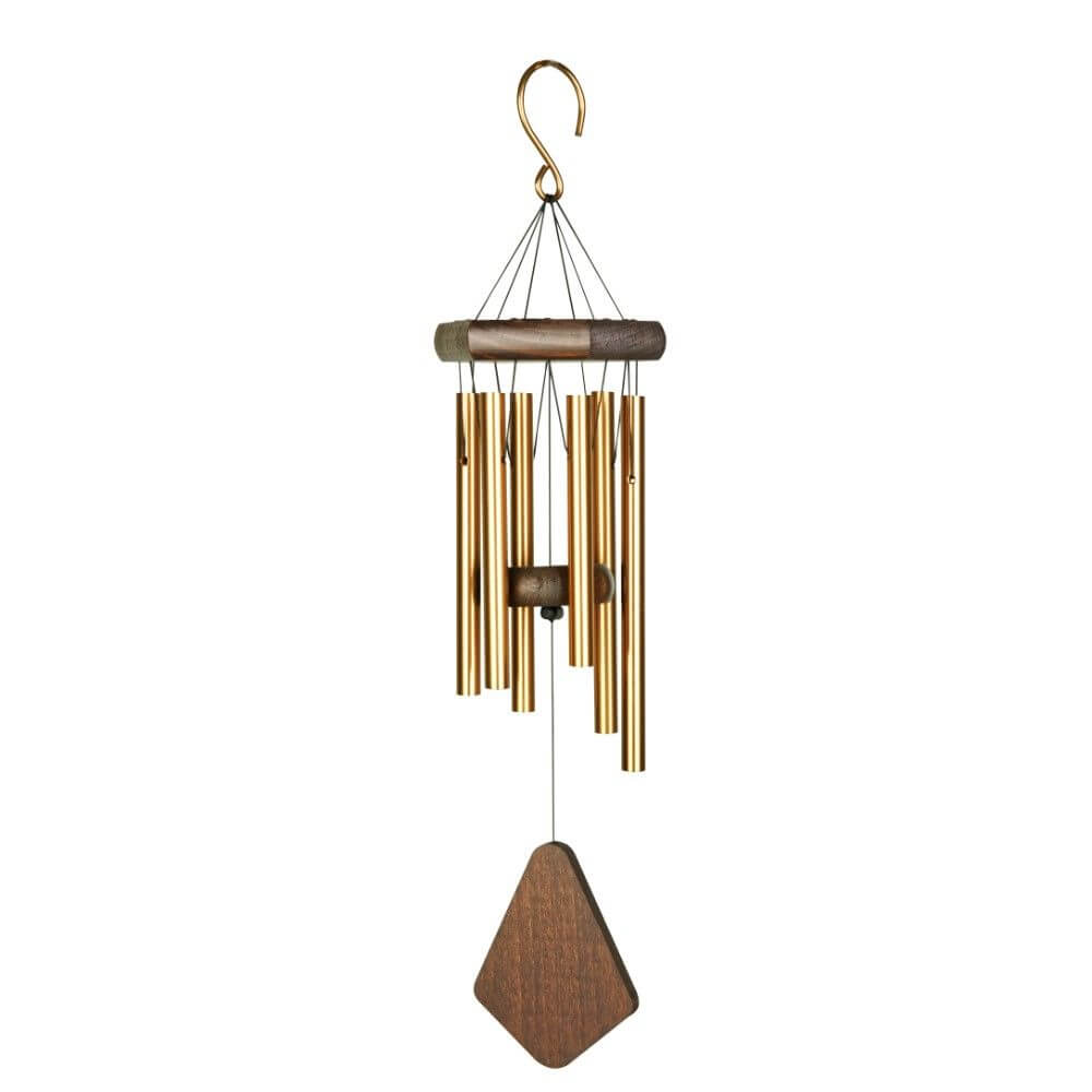 Fountasia premiere grande chime 18 bronze garden for Outdoor hanging ornaments