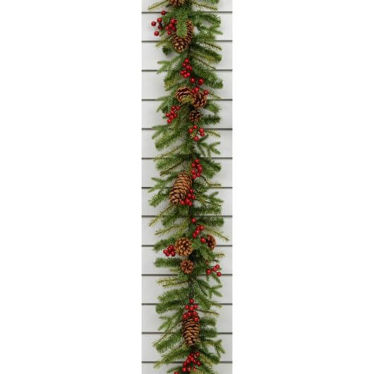 180cm Cone/Berry Garland
