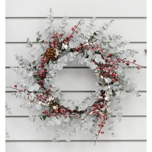 "20"" Frosted Eucalyptus Wreath"