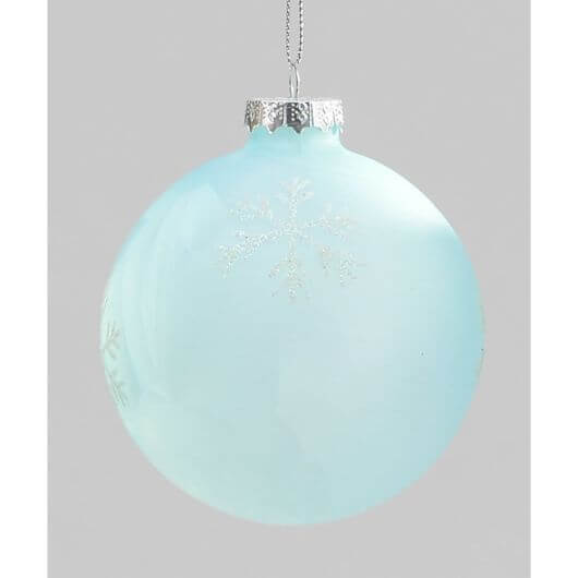 Ice Blue Snowflake Bauble