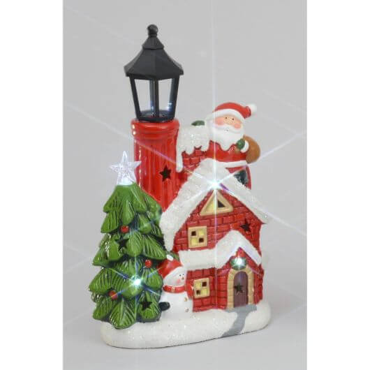 Lantern House Ornament with LED