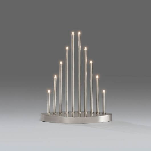 Konstsmide 10 LED Light Metal Candlestick