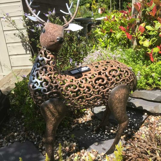 Smart Solar Metal Silhouette Stag