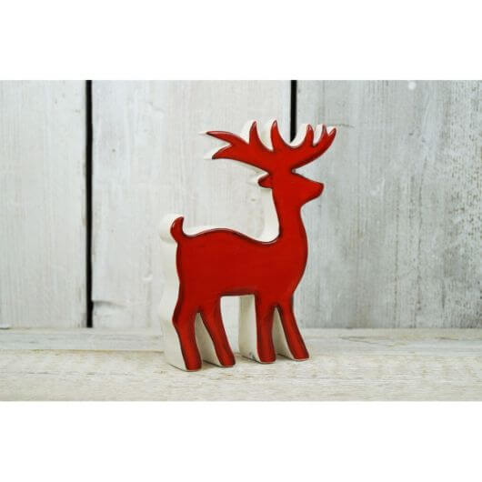 Red Ceramic Reindeer