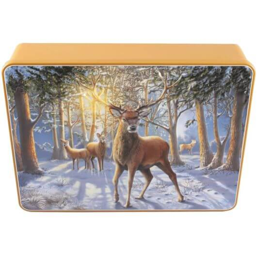 Bramble House Embossed Stag Tin with Shortbread Buttons