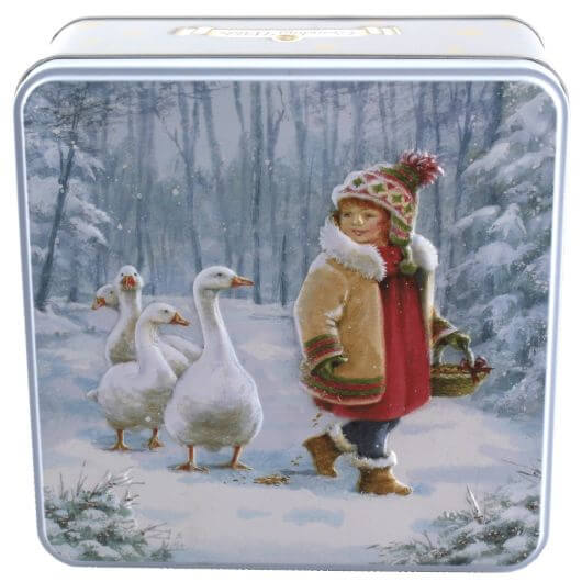 Grandma Wilds Embossed Girl & Geese Tin 160g