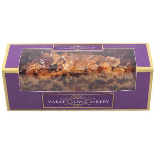 Market Town Bakery Boxed Genoa Topped Slab Cake 350g