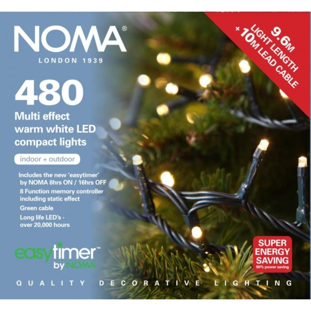 Noma 480 LED Multi Effect Warm White Compact Lights | Garden Store ...