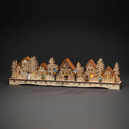 Konstsmide Wooden Silhouette Village (18 LED)