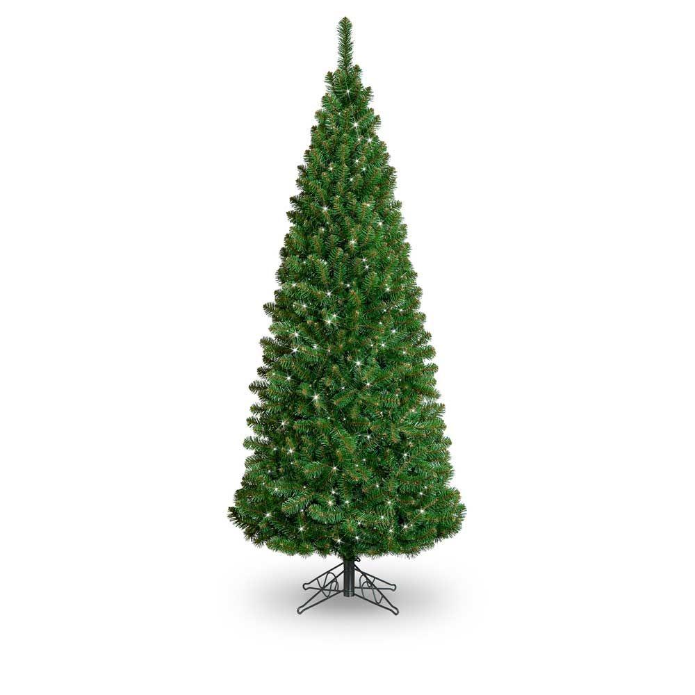 7ft Pre Lit Slim Glacier Artifical Christmas Tree Garden Store Online