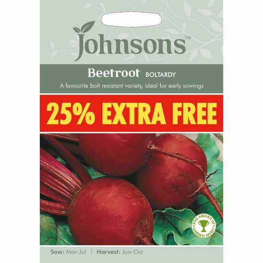 Johnsons Beetroot Boltardy 25% Extra Free