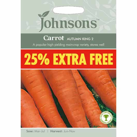 Johnsons Carrot Autumn King 2 25% Extra Free