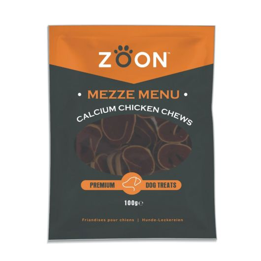 Zoon Mezze Menu Calcium Chicken Dog Chews
