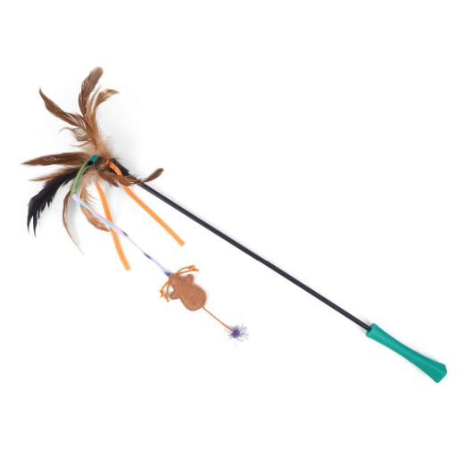 Zoon Nip-It Feather Mouse Stick