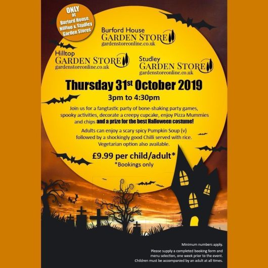Halloween Party Burford House Garden Store Adult Entry